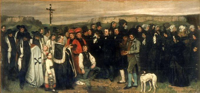 Gustave Courbet - Un enterrement à Ornans (1849), Musée d'Orsay / Paris
