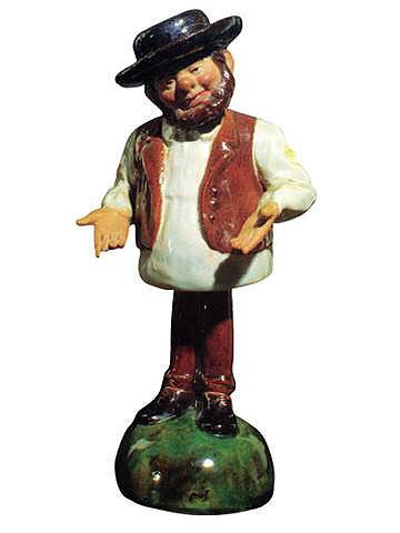 A figura do Zé Povinho, peça cerâmica da autoria de Rafael Bordalo Pinheiro