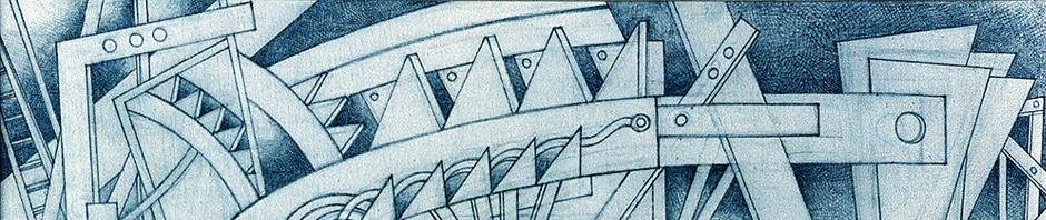 grafite e acrílico s/ tela, fragtº, 1995, Costa Brites