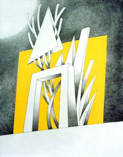 """""""Passagem para a Atlântida"""" - grafite e acrílico s/ tela s/ platex, Costa Brites"""