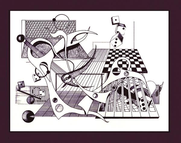 """""""composição"""", desenho / Rogério Silva"""