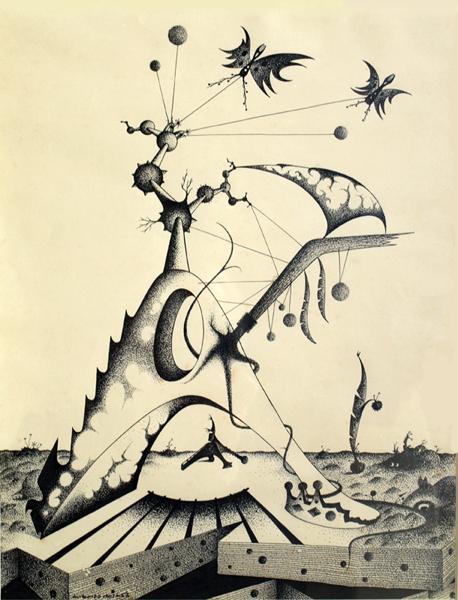 Desenho de Augusto Mota datado, salvo erro, de 1966