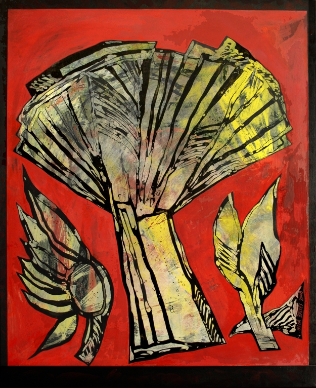 Pintura, acrílicas s/ tela, 100 cm x 89 cm, Holly Wood 2008, Costa Brites