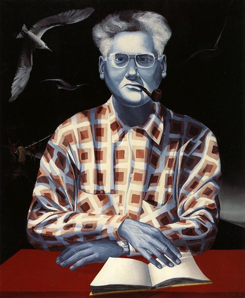 O escritor Dias de Melo, pintura de Tomaz Vieira, 1974