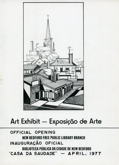 Exposição de Rogério Silva na Biblioteca Pública de New Bedford, a convite do Governo Portugês, 1977