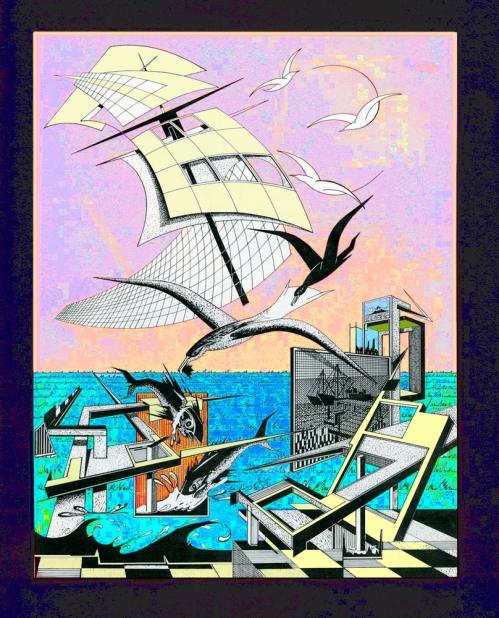 garça voando em agonia, Rogério Silva
