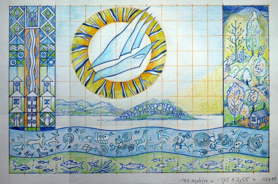 projecto painel de azulejos pª a Galiza