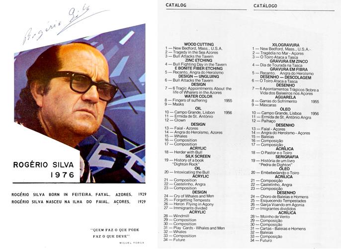duas páginas do catálogo da Celebração Portuguesa do Festival Bostonian, 1976