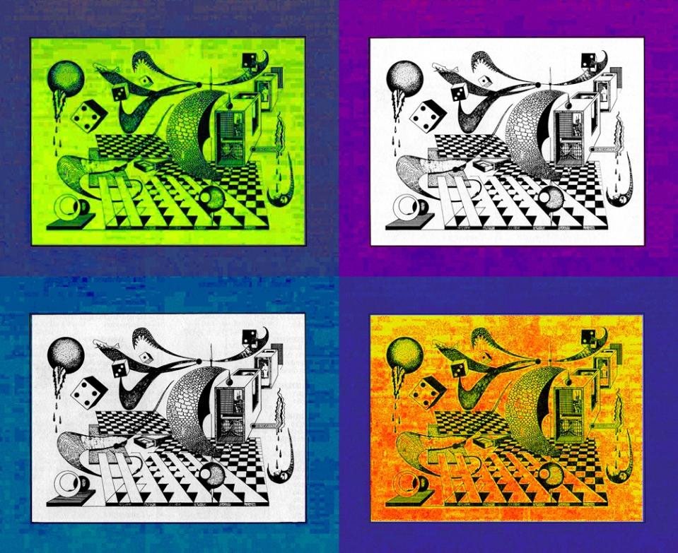 exploração cromática de desenho original de Rogério Silva, com enquadramento